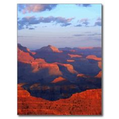 Digitally painted photo of an Arizona desert sunset from Yavapai Point at Grand Canyon National Park in Arizona. Original landscape travel photography by Tammy Winand.