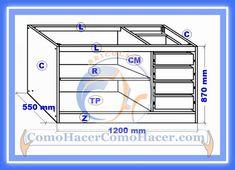 Como hacer un escritorio juvenil planos con medidas para Planos de gabinetes de cocina gratis