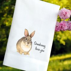 Easter Bunny Guest Towels Set of 2 by myhomeplace on Etsy, $20.00