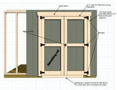 How To Build Double Shed Doors . here's one of the easiest ways with a step by step guide with illustrations on shed door construction . shed Building A Storage Shed, Building A Door, Storage Shed Plans, Backyard Sheds, Outdoor Sheds, Backyard Storage Sheds, Outdoor Landscaping, Shed Design, Door Design