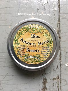 Mrs. Bennet's Anxiety Balm - An all natural calming and relaxing herbal remedy for anxiety relief by LitttleBits on Etsy