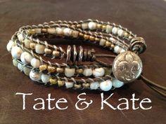 Bronze wrap bracelet by Tate & Kate Designs