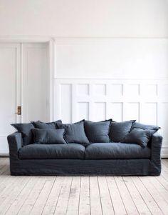 Dark Sofa And Light Flooring