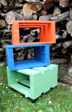 Homemade Stool Designs From Pallets | 99 Pallets