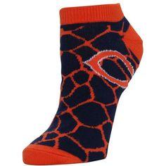 Chicago Bears Women's Giraffe Print Ankle Socks - Navy Blue