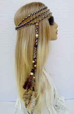 Jewelry Findings & Components Jewelry & Accessories Flight Tracker Western Bohemia Peacock Feather Hair Band Hippie Folk Style Indian Hair Fringed Hair Headdress