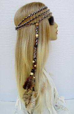 Beads & Jewelry Making Flight Tracker Western Bohemia Peacock Feather Hair Band Hippie Folk Style Indian Hair Fringed Hair Headdress