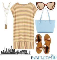 Wow! Am I getting old? I like this for! An outing to the city! A casual striped summer dress for a day in the city | Fabulous After 40