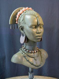 art gallery sculpted busts female bust 2 by marknewman traditional art sculpture busts people Easy Clay Sculptures, Sculpture Clay, Bronze Sculpture, Afrique Art, African Sculptures, Black Artwork, Toy Art, Afro Art, Tribal Art