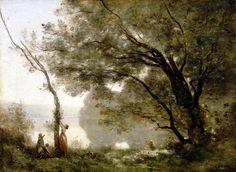 L'Ecole de Barbizon -Camille Corot - Souvenir de Morte-fontaine (1864 )