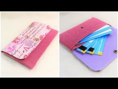Fabric Wallet, Pouch Tutorial, Card Case, Sewing, Pouches, Wallets, Projects, Youtube, Tela