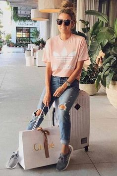 Summer airplane outfit, airplane outfits, travel outfit summer, travel we. Summer Airplane Outfit, Airplane Outfits, Travel Outfit Summer, Summer Outfits, Summer Travel, Travel Outfits, Travel Wear, Travel Style, Travel Fashion