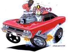 Chevelle 1970 SS 8-1/2 x 11 Imprimir Monstruo muscular por