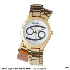 Cancer Sign of the Zodiac. Mens Watches. Wristwatches