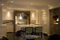 Beautiful renovation...love the wood burning stove