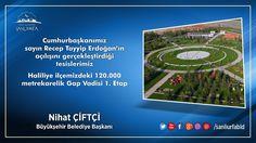 Cumhurbaşkanımız Sn. Recep Tayyip Erdoğan'ın açılışını gerçekleştirdiği Tesislerimiz. Gap Vadisi 1. Etap Cumhuriyet Parkı.