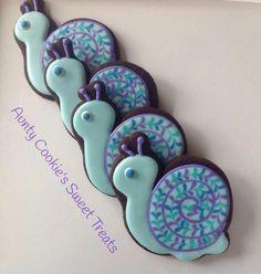 Aunty Cookies Sweet Treats: snail cookies. So cute!