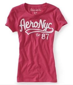 ** #LABORDAY #SALE & 99 CENT #EBAY #AUCTIONS SAVE UP TO 60%! HURRY!! ** Aero Aeropostale Women Girls M Medium NYC 87 Logo Graphic T Shirt Top New | eBay