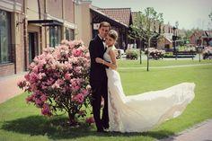 Beautiful, classic, and modestly sexy. Long Wedding Dress Ivory Wedding Dress by ApilatCreativeAtelie, $960.00