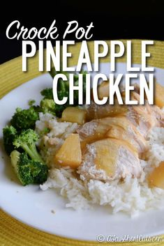 Easy and flavorful crock pot dinner! Check out this Crockpot Pineapple Chicken Recipe!