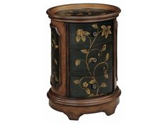 Shop for Stein World Ophelia Table, 42527, and other Living Room Cabinets at Priba Furniture And Interiors in Greensboro, NC. A stunning oval accent table, this piece is finished on all sides and features a wood-tone and black finish with floral detailing and shadowbox molding.