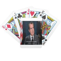 #Nixon & Crook #Quote #Playingcards @zazzle @LTCartoons #cardgames #cards #pokercards #presidents #sale #gift #gifts