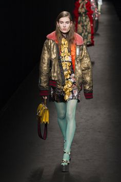 GUCCI | Fall Winter Collection 16 | Milan Fashion Week | Gold Bomber