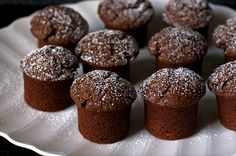David Lebovitz Chocolate Yogurt Snack Cakes | everyday yum, great for breakfast. chocolate and a hint of almond