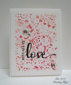 valentine heart doily