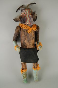 Brooklyn Museum: Arts of the Americas: Kachina Doll, (Kjna E Lona) Native American Proverb, Native American Dolls, Wiccan Art, Indian Dolls, Indian Rugs, Southwest Art, Visual Diary, Art Techniques, Art Dolls