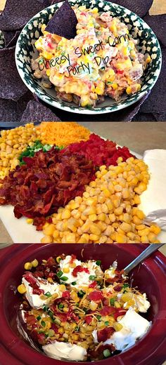 Cheesy Bacon Jalapeno Corn Dip Recipe oh god. Light Appetizers, Recipes Appetizers And Snacks, Tailgating Recipes, Appetizers For Party, Party Recipes, Corn Dip Recipes, Side Recipes, Mexican Food Recipes, Jalapeno Corn