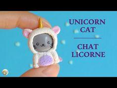 [Stop Motion] Unicorn Cat Tutorial / Tuto Fimo Chat Licorne - YouTube