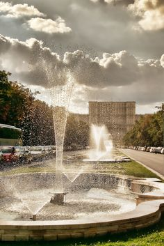 Photo by Came Lia Water Resources, Water Features, Fountain, Waterfall, Clouds, Sky, Awesome, Outdoor Decor, Scenery