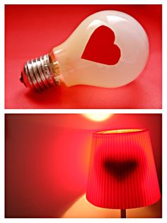 A shadow of a heart showing through your l&shade. Might be dangerous if your light gets hot but it looks cool! & Cool Looking Lamps : Engaging Lightings Cute Super Mario Power Up ...