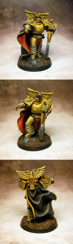 Rogal Dorn, Primarc of Imperial Fists. Not sure about that dark hair though