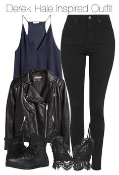 """""""Derek Hale Inspired Outfit"""" by staystronng ❤ liked on Polyvore featuring Topshop, H&M, Converse, Isabel Marant, autumn, derekhale and tw"""