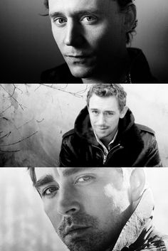 These three HAVE to have been separated at birth. Whoa.     (From top: Tom Hiddleston, JJ Field, Lee Pace)