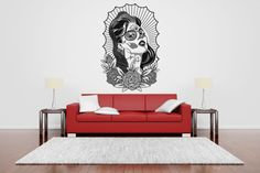 Removable Vinyl Sticker Mural Decal Wall Art Decor Poster Tv Show Bedroom Pin Up Girl Tattoo Pretty Ink Machine Chicano Indoor Outdoor Pin Up Girl Tattoo, Girl Tattoos, Tattoo Posters, Wall Art Decor, Room Decor, Painting Quotes, Vinyl Wall Decals, Pin Up Girls, Tattoo Ink