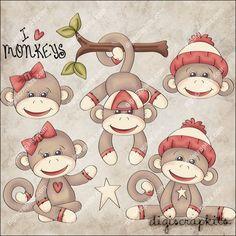 Monkey Business 1 Clip Art Set - Click Image to Close