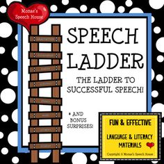 FREE This SPEECH LADDER POSTER ACTIVITY & BONUS SURPRISES will help your students with the different levels of successful Speech Therapy and bonus items for /r/, frontal lisp and voice!