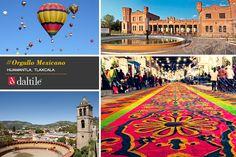Huamantla se levanta en el valle tlaxcalteco con gran emotividad, festejos populares y haciendas llenas de colores. Un lugar mágico con arquitectura al estilo francés y una fascinante tradición ganadera. #OrgulloMexicano