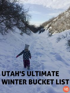 Winter Bucket List | The Salt Project | Things to do in Utah with kids