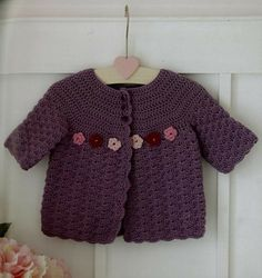 I absolutely love this adorable crochet sweater