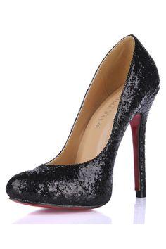 Sapatos de Salto Atraente Formatura Lantejoula Material do sequin