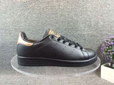 Adidas Stan Smith Black Gold Fashion Skateboarding Shoes #adidas…