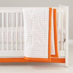 Iconic Crib Fitted Sheet (Orange Arrow) | The Land of Nod