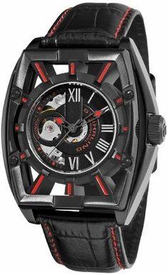 Stuhrling 279.335564 - Reloj para hombres, correa de cuero color negro-PREFERIDO-1