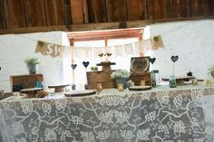 Vintage Rustic Sweets Table Decor