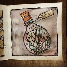 #artjournal #aliceinwonderland #atelierdelliberte Moleskine, Alice In Wonderland, Art, Atelier, Art Background, Kunst, Performing Arts, Art Education Resources, Artworks