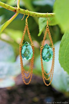 Chandelier Earrings tutorial from Diary of a Mad Crafter- These look like something I used to make. Maybe I should make jewelry again...